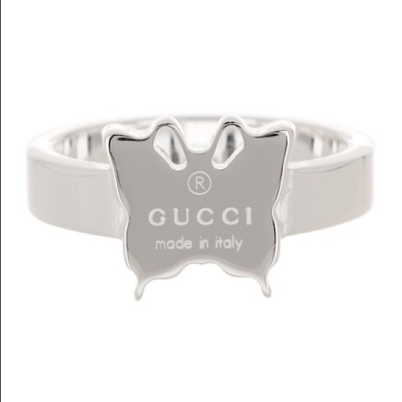754d1feeb Gucci Jewelry | Authentic Butterfly Sterling Silver Ring | Poshmark
